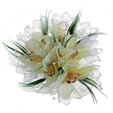 Акция! Букет невесты дублер Орхидеи белые 785325