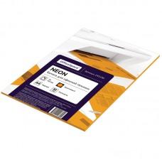 Бумага для принтера А4 цветная 80г/ 50л неон оранжевый Офис-спейс 245196