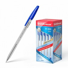 Ручка шар. ErichKrause R-301 Classic синяя 0,5мм 43184 масляная (стержень 140мм)