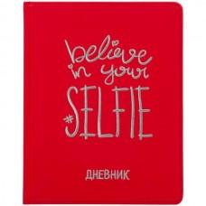 Дневник 1-11класс/тв.обл кожзам Selfie красный, вышивка Greenwich Line DSK_33659