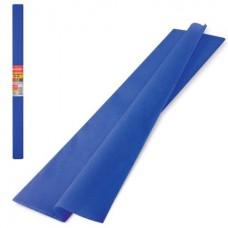 Бумага крепированная 50*250см синяя 32гр Brauberg в рулоне126535 растяжение 45%