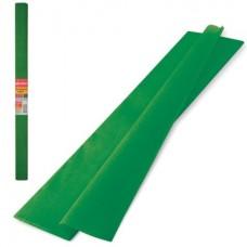 Бумага крепированная 50*250см зеленая темная 32г Brauberg в рулоне 126537