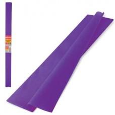 Бумага крепированная 50*250см фиолетовая 32г Brauberg в рулоне 126533