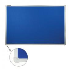Доска текстильная 60*90см алюминиевая рамка синяя Brauberg 231700