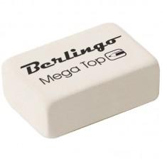 Ластик Berlingo Mega Top прямоугольный малый BLc_00014 белый 26*18*8мм натуральный каучук