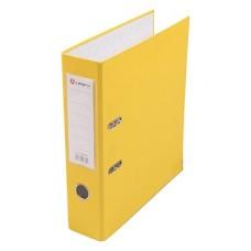 Папка-регистратор А4 80мм ПВХ цвет желтый карман на корешке +метал.окантовка Lamark AF0600-YL1