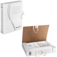Короб архивный картон  45мм с завязками белый (до 400 листов) Brauberg 126512