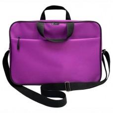 Папка-портфель А4+ ткань цвет фиолет (на молнии с ручками, карман, ремень) Lamark DC0032-VL