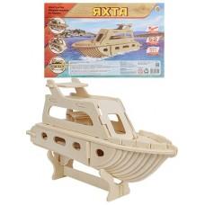 Конструктор деревянный 3D Яхта СМ-1018-А4
