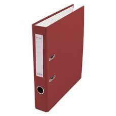 Папка-регистратор А4 50мм ПВХ цвет красный карман на корешке+метал.окантовка Lamark AF0601-RD1