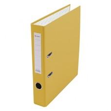 Папка-регистратор А4 50мм ПВХ цвет желтый карман на корешке+метал.окантовка Lamark AF0601-YL1