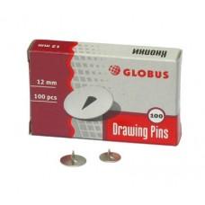 Кнопки канц. 12мм/100шт Globus К12-100