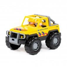 Автомобиль-Джип скорая помощь Сафари NL 23,5*14,5*13,5см в сетке Полесье 71118