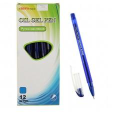 Ручка шар. BEIFA 3176 синяя 0,7мм масляная игольчатая, тонированный корпус ТА 3176-BL
