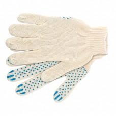 Перчатки х/б с покрытием ПВХ 10класс 4-нитка Стандарт белые