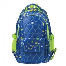 Рюкзак молодежный 16л Brauberg женский СЕРДЕЧКИ синий 31*12*45 см 227073