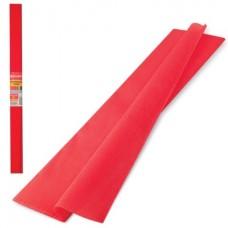 Бумага крепированная 50*250см красная 32г Brauberg в рулоне 126531