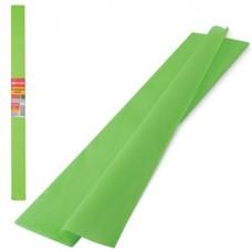 Бумага крепированная 50*250см светло-зеленая 32г Brauberg в рулоне 126536