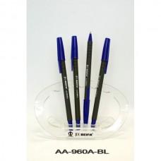Ручка шар. BEIFA AA-960A синяя 0,7мм ОФИС антискользящий темный корпус (А)