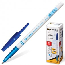 Ручка шар. Brauberg 140662 офисная синяя 1,0 мм белый корпус