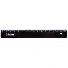 Линейка пластик 16см черная Стамм ЛН04