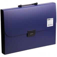 Портфель пластик А4 13отделений синий Офис-спейс F13P2_335
