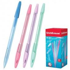 Ручка шар. ErichKrause R-301 SPRING синяя 0,7мм прозрачный корпус 31059 (стержень 140мм)