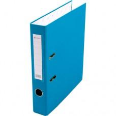 Папка-регистратор А4 50мм ПВХ цвет васильковый карман на корешке+метал.окантовка Lamark AF0601-RB1
