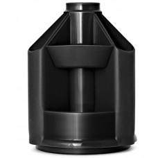 Подставка настольная пластик Mini Desk черная Стамм ОР70 вращается
