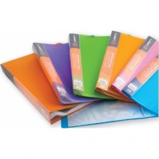 Папка 60 файлов неон фиолетовая 0,80мм жесткая Lamark DB0036-IMVL