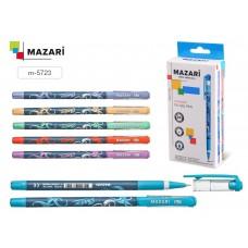 Ручка шар. Mazari 5723 синяя 0,7мм игольчатая масляная цветной пласт.корпус SHADOW Smart Ink M-5723