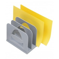 Лоток верт. 4 отделения - СОРТЕР серый СО01 Стамм (для журналов и бумаг)