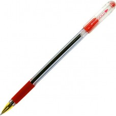 Ручка шар. MunHwa MC-Gold красная 0,5мм с держателем BMC-03  (Корея)