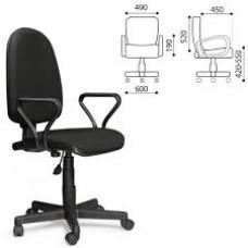 Кресло оператора Prestige с подлокотниками черное 531491