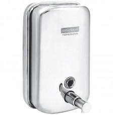 Диспенсер для жидкого мыла 1л наливной, механический, нерж.сталь OfficeClean Professional 267513