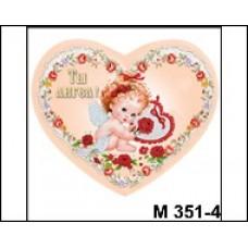 Акция! Магнит дерево Сердце Ангелочек с цветами М351/4