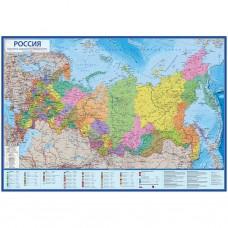 Карта настенная Карта Мира политико-административная 1:14,5 млн (60*41 см) Globen КН060