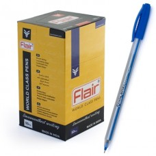Ручка шар. Flair NOKI (ноки) синяя 0,5мм одноразовая (Индия) F-1163/син.