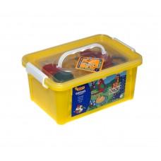 Набор в контейнере Тесто для лепки JOVI 475 Зоопарк (5цв* 50гр, 12 форм, 4 шпритца,3 стека)