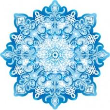Наклейка декоративная на скотче 10*10см Снежинка 7-66-5184А