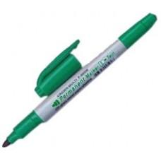 Маркер перм. двойной зеленый 4мм/2мм CROWN P-800W