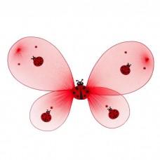 Крылья карнавальные Божья коровка (крылышки+стразы) 48*30см 511870  в пакете