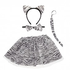 Акция! Костюм карнавальный ЗЕБРА (ободок Ушки +юбка +галстук-бабочка +хвост) 1072740