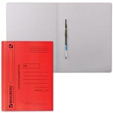 Скоросшиватель картонный цветной 360гр с механизмом КРАСНЫЙ (до 200л) 124575