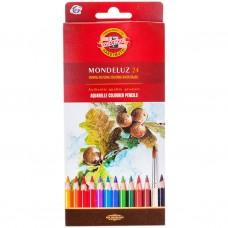 Карандаши цветные акварель 24цв. Koh-i-Noor MONDELUZ 3718/24 (Чехия)