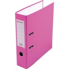 Папка-регистратор А4 80мм ПВХ цвет розовый карман на корешке +метал.окантовка Lamark AF0600-PN1