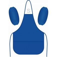 Фартук для труда с нарукавниками Синий 49*39см 2 кармана нейлон Lamark PA0001-BL