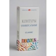 Контуры по стеклу 04цв. акриловые универсальные classic ЗХК Декола 4цв/18мл 13641558