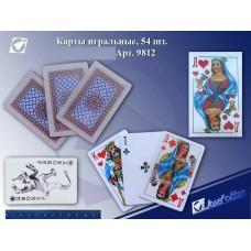 Карты игральные 54шт пластик покрытие 9812 ш/к420287