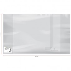 Обложка тетради 210*350мм 110мк с закладкой прозрачная ПВХ 23603 (13)